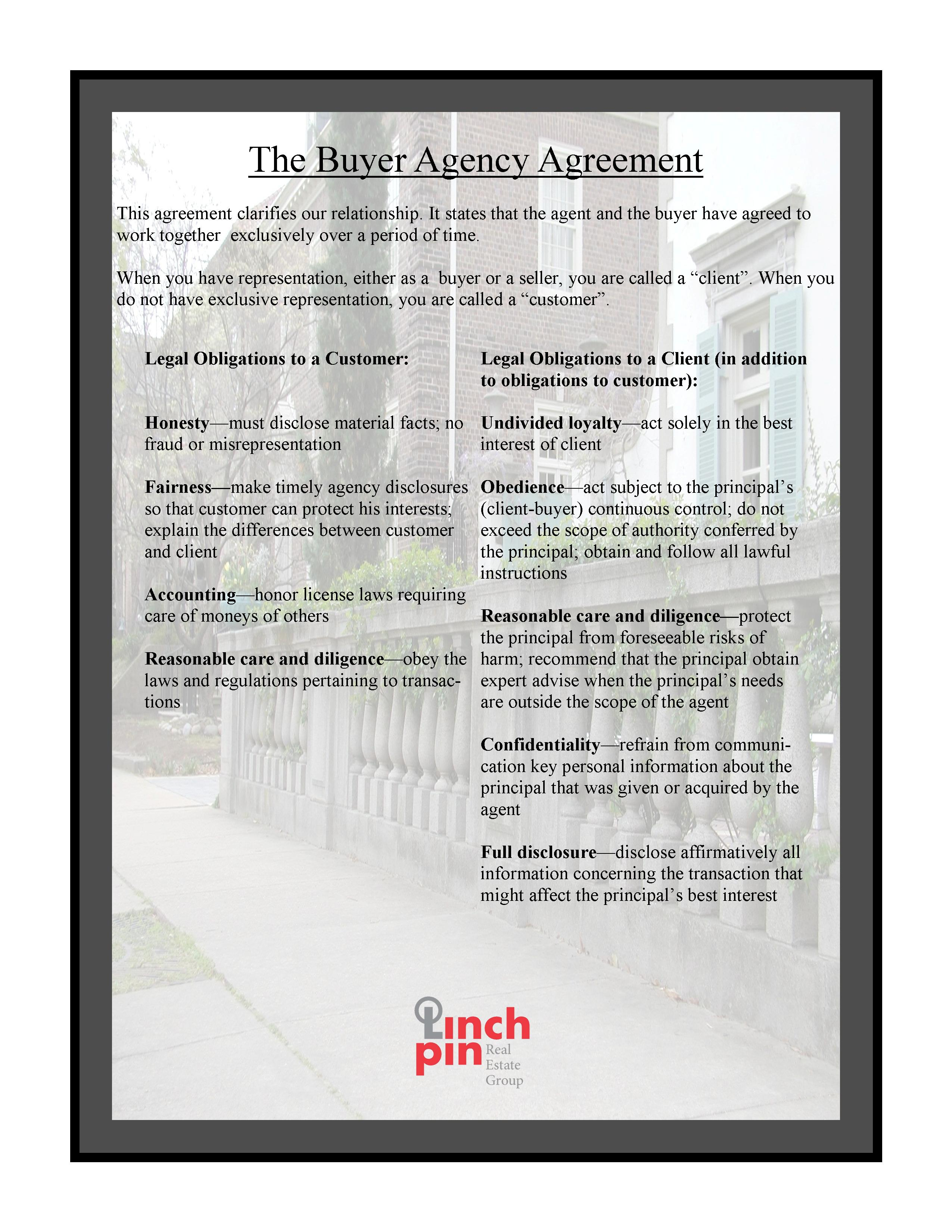 How Does A Buyers Agency Agreement Benefit You Linchpin Real